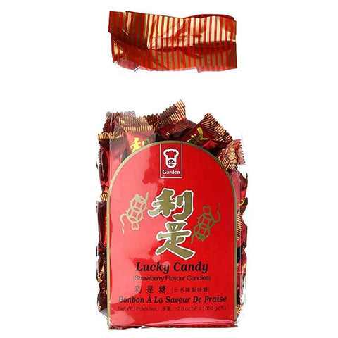Garden Lucky Strawberry Hard Li Shi Candy, 12.3 oz Hard Garden