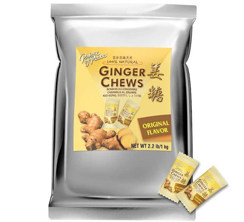 Prince of Peace Ginger Chewy Candy, Original Bulk 2.2 lb