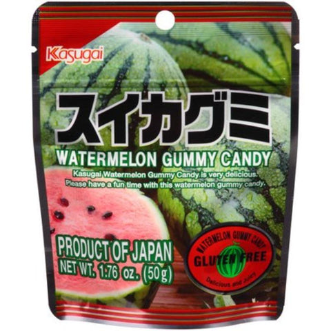 Kasugai gummy Stand Pack Small Pouch Watermelon, Peach, Strawberry, Lychee 1.76 oz Chewy Kasugai Watermelon
