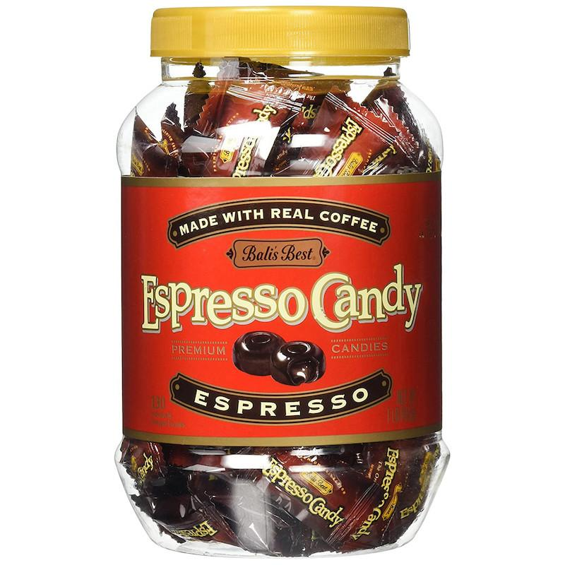 Bali's Best Espresso Coffee Hard Candy Jar, 100 pieces Hard Bali's Best
