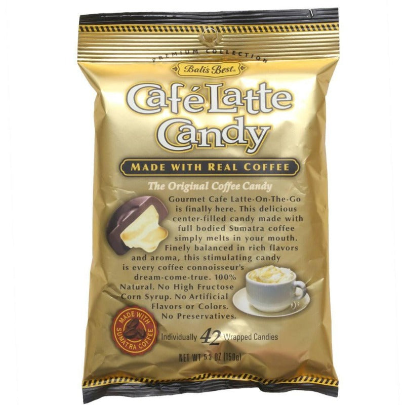 Bali's Best Cafe Latte Coffee Hard Candy