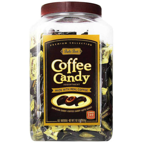 Bali's Best Assorted Coffee Hard Candy Jar, 2 lb 5 oz Hard Bali's Best