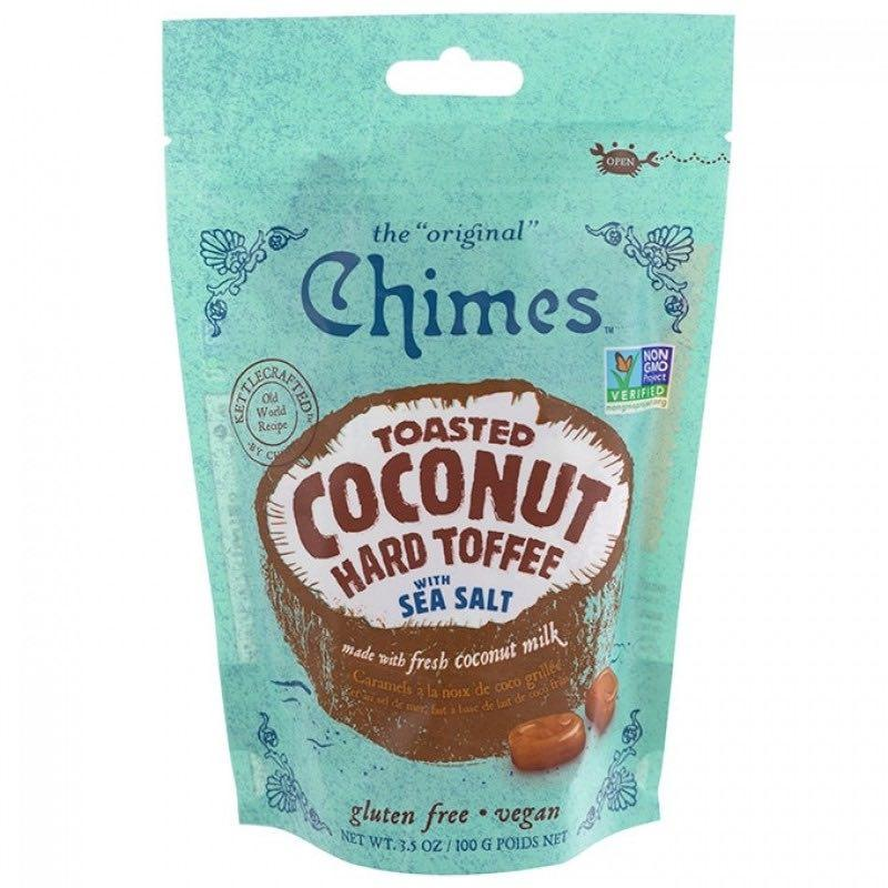 Chimes Toasted Coconut Hard Toffee Candy with Sea Salt, 3.5 oz Hard Chimes