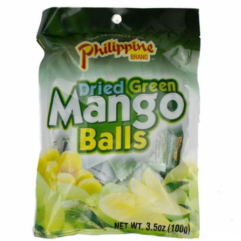 Philippine Dried Green Mango Balls Chewy Fruit Treats, 3.52 oz Chewy Philippine