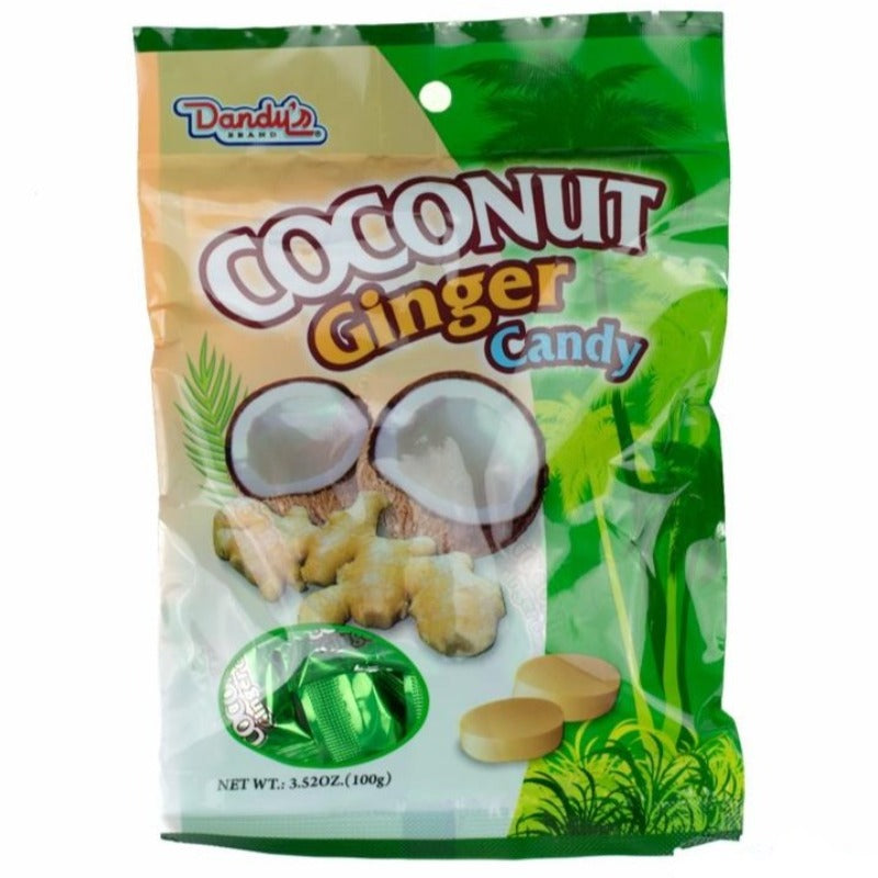 Dandy's Coconut Ginger Hard Candy - Auntie K Candy
