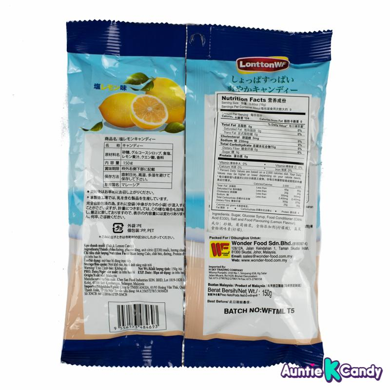 Wonderfood Salt and Lemon Hard Candy 5 30 oz From Malaysia