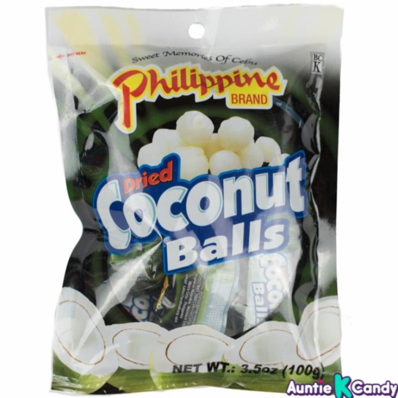 Philippine Dried Coconut Ball Chewy Fruit Treats, 3.52 oz Chewy Philippine