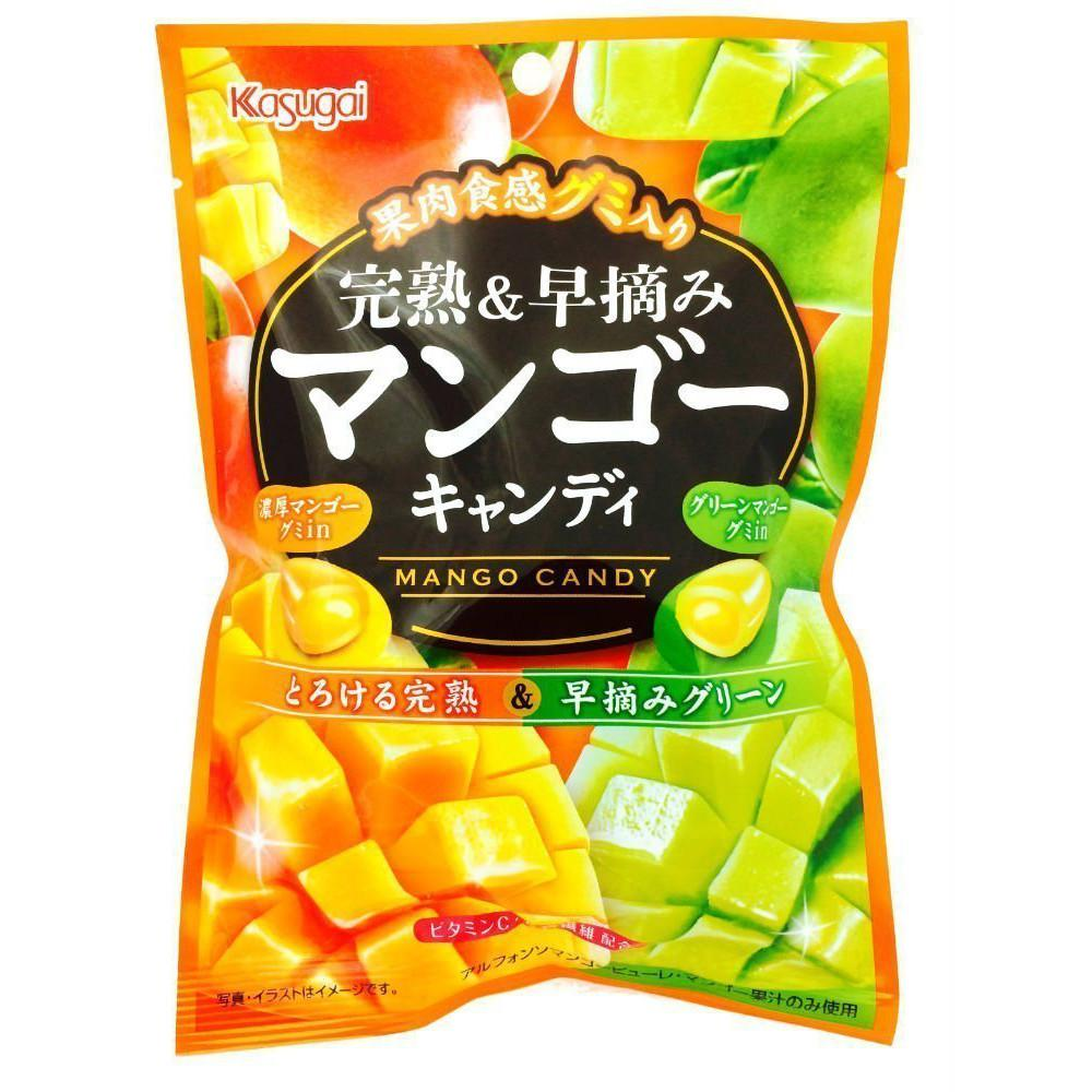 Kasugai Ripe and Green Mango Hard Candy with Chewy Center