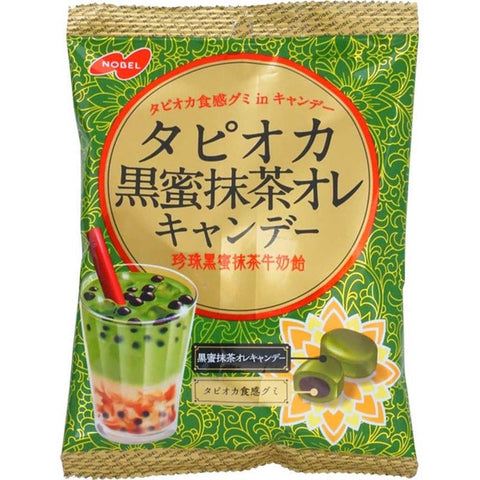 nobel tapioca coffee milk au lait green tea hard candy brown sugar