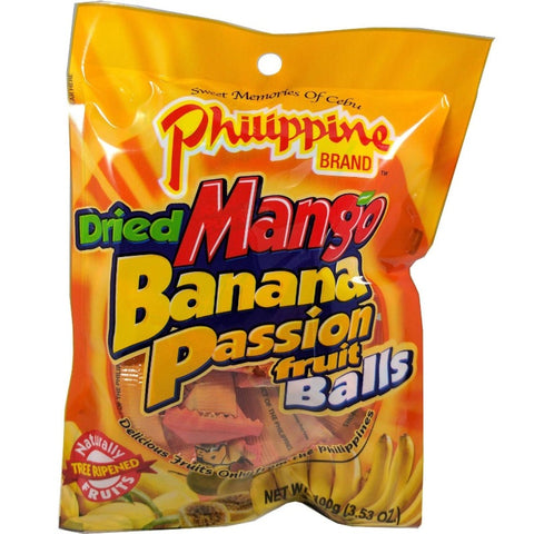 philippine brand dried mango banana passionfruit balls