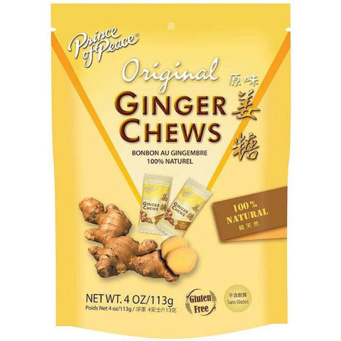 prince of Peace original ginger chews 4 oz