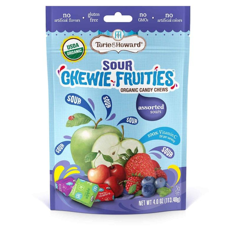 Torie and Howard Sour Chewie Fruities Organic Candy Chews Various Flavors Chewy Torie and Howard Assorted