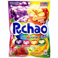 Uha Mikakuto Japan Puccho Puchao 4 Fruit Mix Grape Melon Strawberry Mango Chewy Candy with Crystals