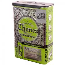 Chimes Original Ginger Chews Candy Tin 2 oz