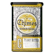 Chimes Peanut Butter Ginger Chews Candy Tin 2 oz
