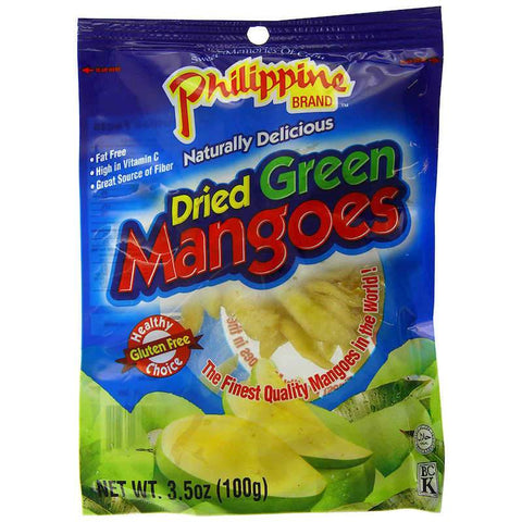 Philippine Dried Green Mangoes Mango Chewy Fruit Treats 0.7 oz or 3.53 oz Chewy Philippine 3.53 oz