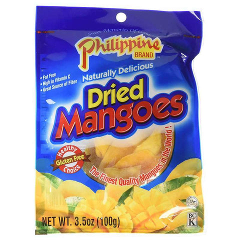 Philippine Dried Mangoes Yellow Mango Chewy Fruit Treats, 0.7 oz or 3.53 oz Chewy Philippine 3.53 oz