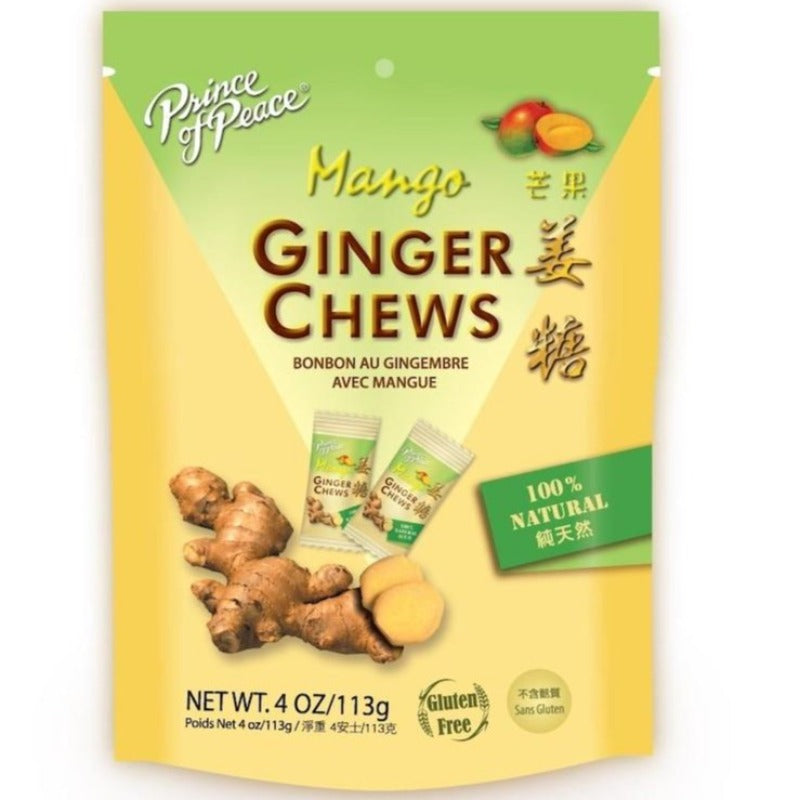 prince of peace mango chews ginger 4 oz