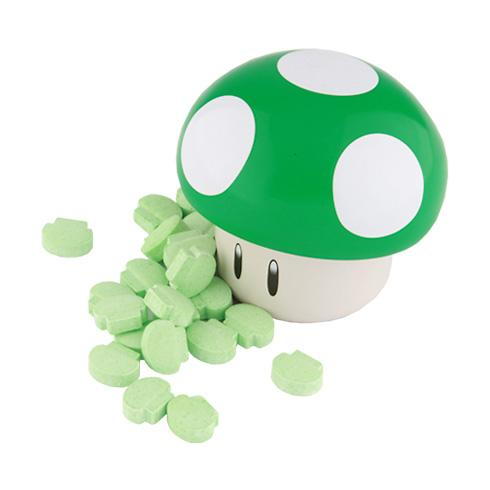Nintendo Mario Mushroom Sours Hard Candy Tin, Green or Red Hard Boston America Green