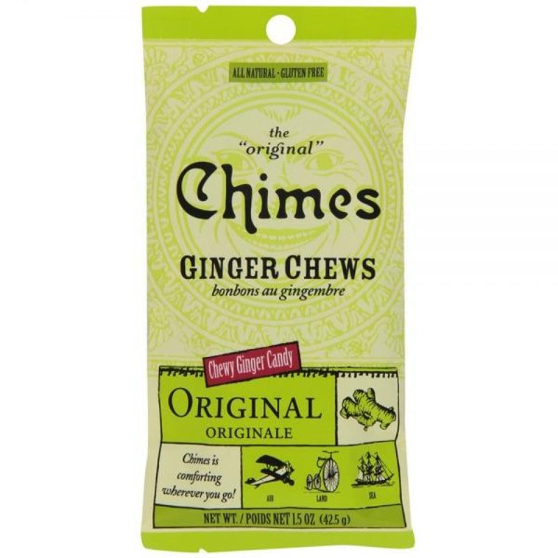 Chimes Original 1.5 Ginger Chews Chewy Candy