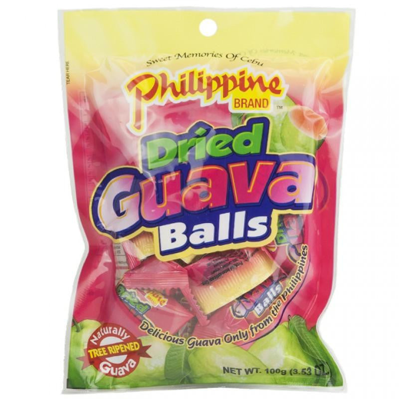 Philippine Dried Guava Balls Chewy Fruit Treats