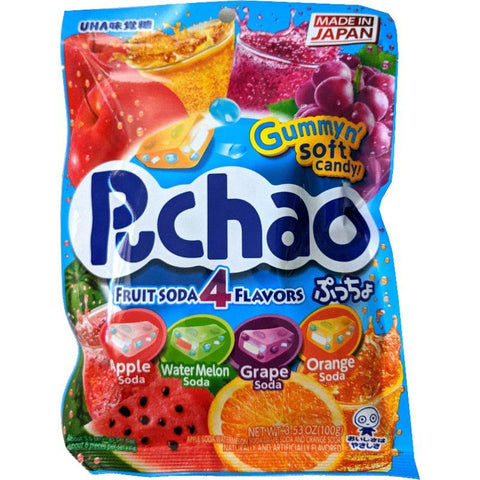 Puchao Puccho 4 fruit soda mix apple watermelon grape orange