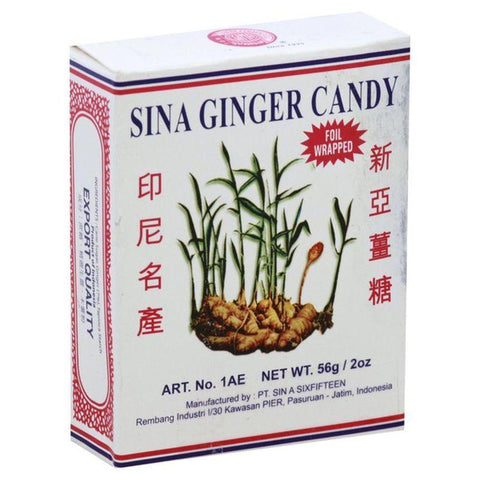 Sina Ginger Candy Chews original 2 oz box