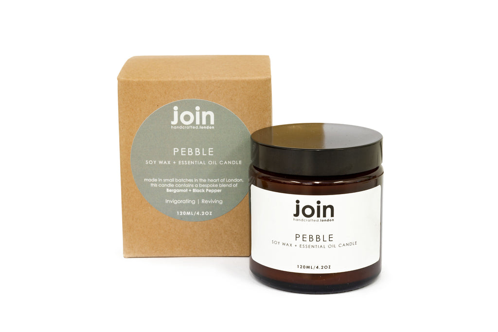 Pebble - Join Luxury Scented Soy Wax + Essential Oil Candle