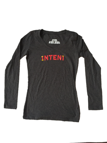 LADIES L/S / CHARCOAL // L.E WEALTH SET // INTENT STORES LOS ANGELES