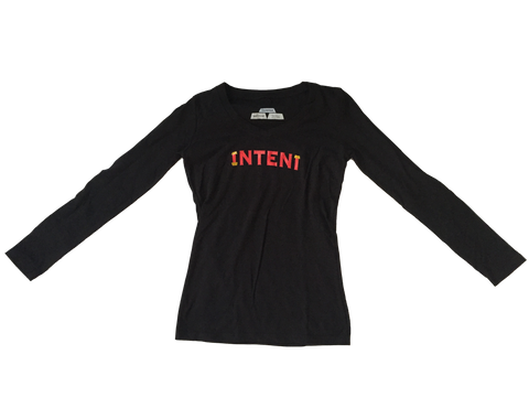 LADIES L/S / BLACK // L.E WEALTH SET // INTENT STORES LOS ANGELES