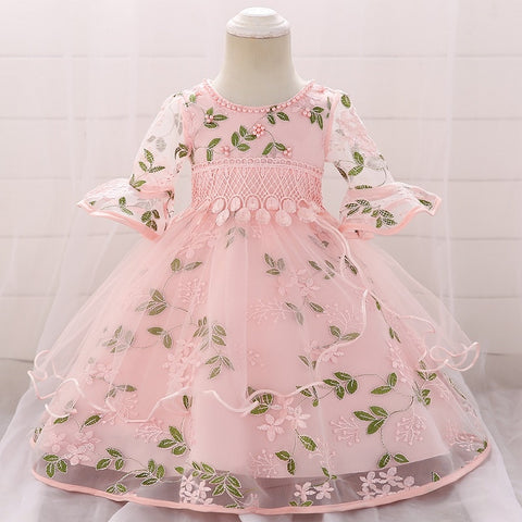 Vestido Neonatal 2019 Summer Baby Girl Dress 0-3Years Girls Birthday Dresses flower party princess dress Girls clothes