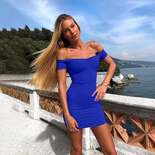 Summer Women Sexy Bandage Bodycon Dress Casual Sleeveless Party Club Mini Spaghetti Strap Dress Vestidos for Female HO841938-hipnfly-blue style 3-L-hipnfly