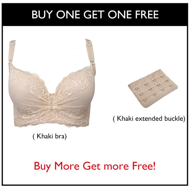 New Plus Size Bra Ultrathin Lace Bralette For Woman Racerback Push Up Cotton Brassiere Underwire C D E Cup Bras Underwear 105E-hipnfly-beige-C-80-hipnfly