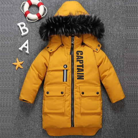 2019 new winter children's clothing children's boy cotton padded warm down jacket in the big boy baby long coat coat-hipnfly-hipnfly