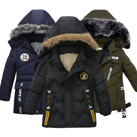 2019 fashion boys winter jackets children's wear jackets children's garments coats baby boy clothes Cotton coats-hipnfly-hipnfly
