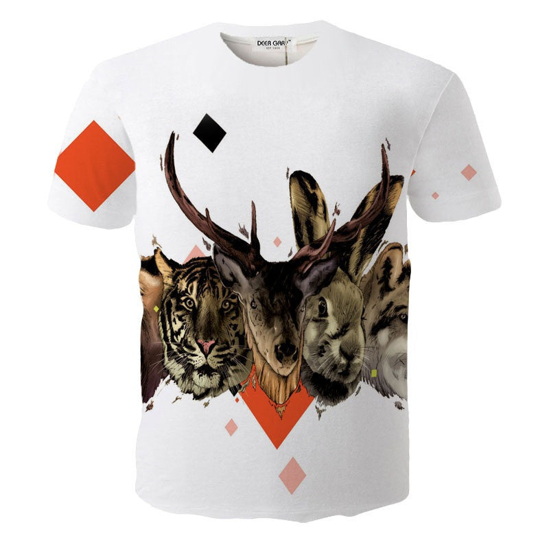 2016 New Brand Fashion Design 3D Print t shirt Men O-neck Casual Cotton Short Sleeve t- shirt for Men Summer Male Tops Tees-hipnfly-OC9051 Picture Color-L-hipnfly