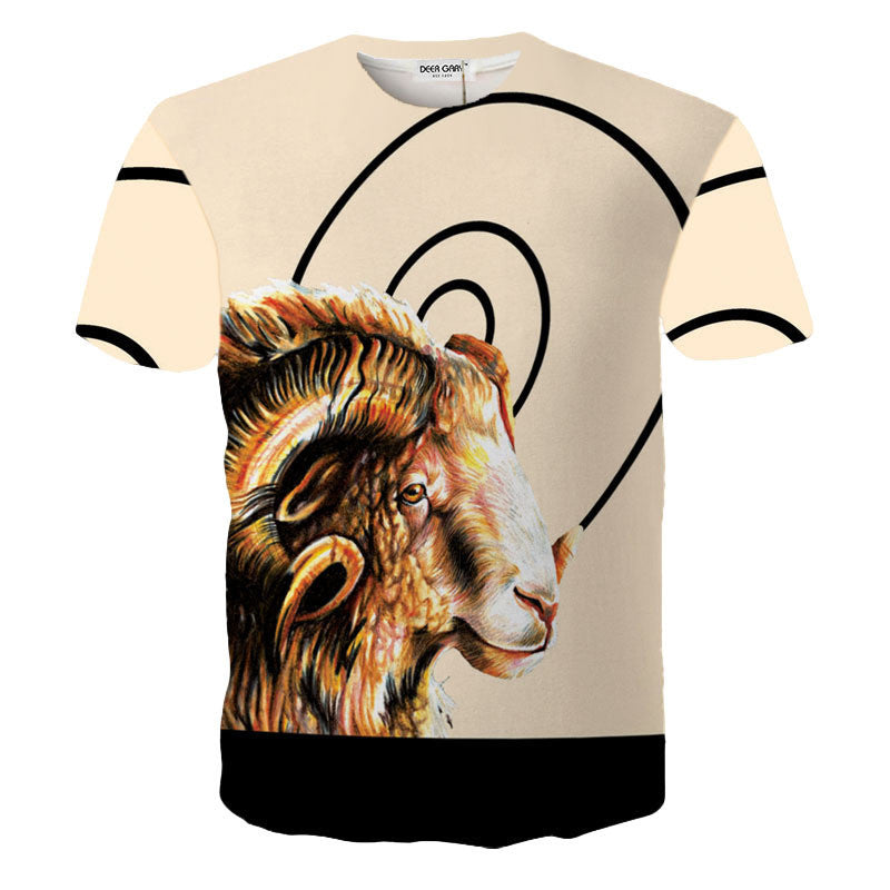 2016 New Brand Fashion Design 3D Print t shirt Men O-neck Casual Cotton Short Sleeve t- shirt for Men Summer Male Tops Tees-hipnfly-OC9052 Picture Color-L-hipnfly