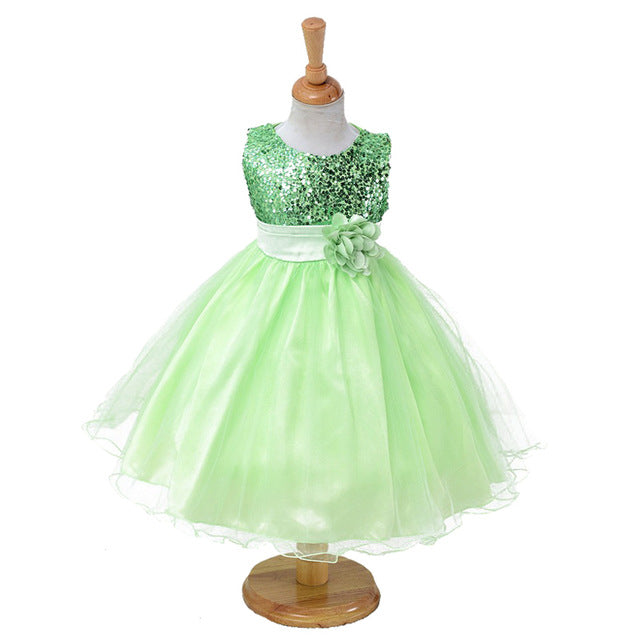3-14yrs Hot Selling Baby Girls Flower sequins Dress High quality Party Princess Dress Children kids clothes 9colors-hipnfly-as picture 6-3T-hipnfly