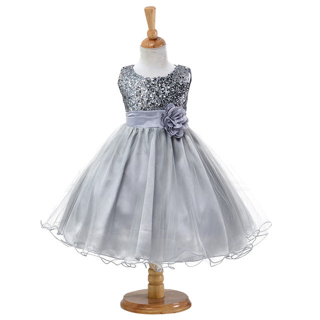 3-14yrs Hot Selling Baby Girls Flower sequins Dress High quality Party Princess Dress Children kids clothes 9colors-hipnfly-as picture 4-3T-hipnfly