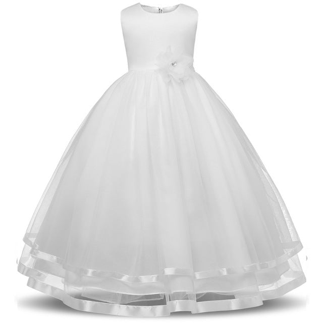 Kids Girls Party Wear Costume For Children Summer Princess Wedding Dress Girls Ceremonies Teenagers Prom Dresses Formal Vestidos-hipnfly-B-4T-hipnfly