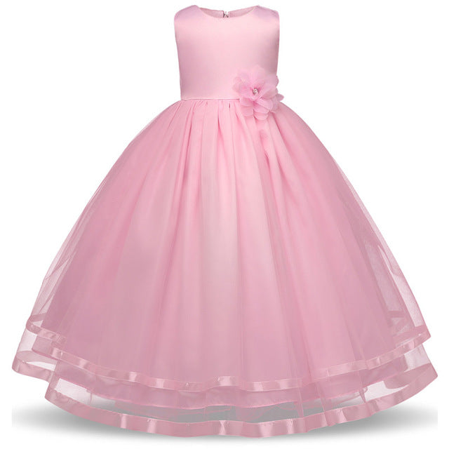 Kids Girls Party Wear Costume For Children Summer Princess Wedding Dress Girls Ceremonies Teenagers Prom Dresses Formal Vestidos-hipnfly-hipnfly