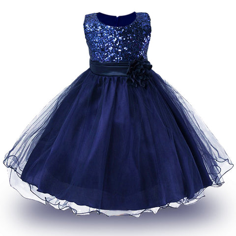 2-14yrs Teenage Clothing Christmas Girl Dress Summer Princess Wedding Party dress sequins Sleeveless New Year For Girls Clothes-hipnfly-hipnfly