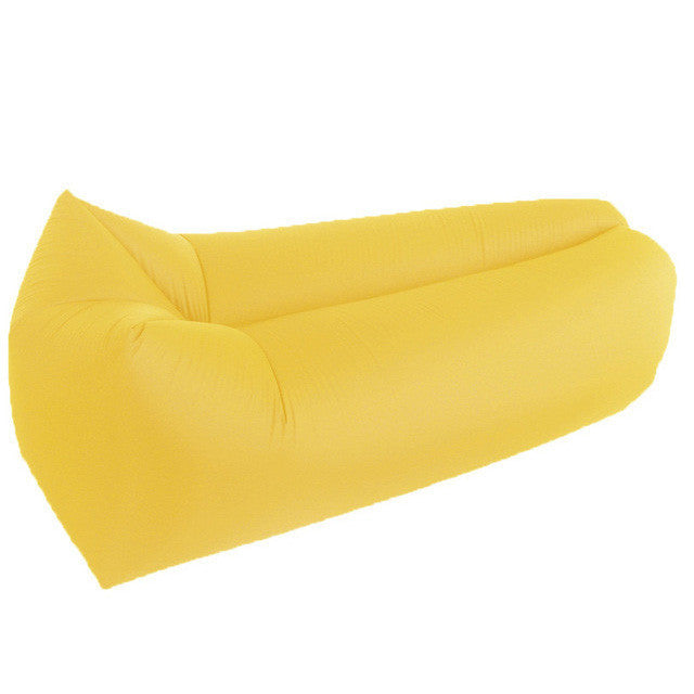 Inflatable Hammock Sofa - Air Bed-hipnfly-Yellow Square-hipnfly