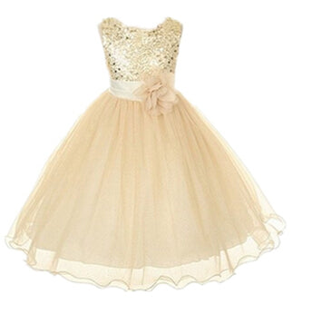 2-14yrs Teenage Clothing Christmas Girl Dress Summer Princess Wedding Party dress sequins Sleeveless New Year For Girls Clothes-hipnfly-as picture 2-3T-hipnfly