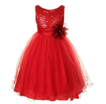 2-14yrs Teenage Clothing Christmas Girl Dress Summer Princess Wedding Party dress sequins Sleeveless New Year For Girls Clothes-hipnfly-as picture 4-3T-hipnfly