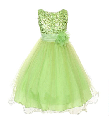 2-14yrs Teenage Clothing Christmas Girl Dress Summer Princess Wedding Party dress sequins Sleeveless New Year For Girls Clothes-hipnfly-as picture 6-3T-hipnfly