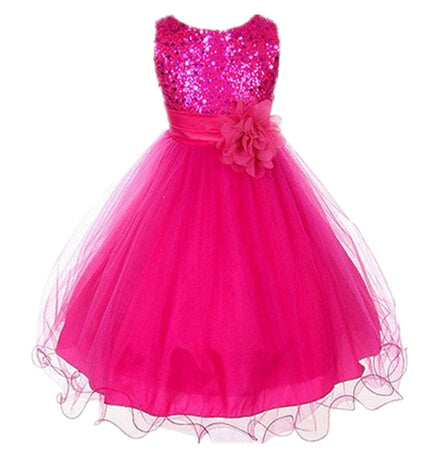 2-14yrs Teenage Clothing Christmas Girl Dress Summer Princess Wedding Party dress sequins Sleeveless New Year For Girls Clothes-hipnfly-as picture 7-3T-hipnfly