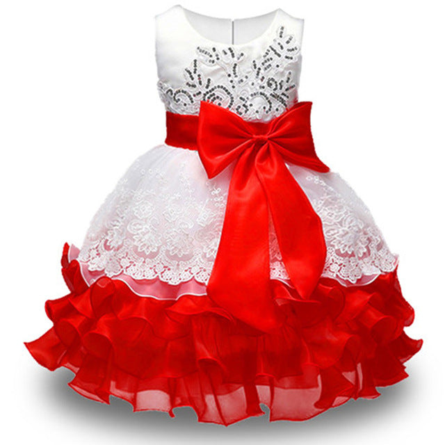 Summer Flower Girl Dress Ball gowns Kids Dresses For Girls Party Princess Girl Clothes For 3 4 5 6 7 8 Year Birthday Dress-hipnfly-red-3T-hipnfly