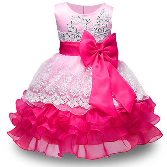 Summer Flower Girl Dress Ball gowns Kids Dresses For Girls Party Princess Girl Clothes For 3 4 5 6 7 8 Year Birthday Dress-hipnfly-pink-3T-hipnfly