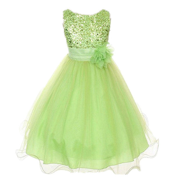 Summer Flower Girl Dress Ball gowns Kids Dresses For Girls Party Princess Girl Clothes For 3 4 5 6 7 8 Year Birthday Dress-hipnfly-green-3T-hipnfly